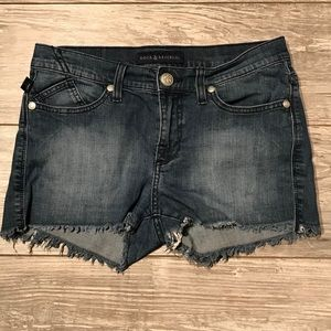 Denim Shorts Rock and Republic Jean Cut Off Size 8